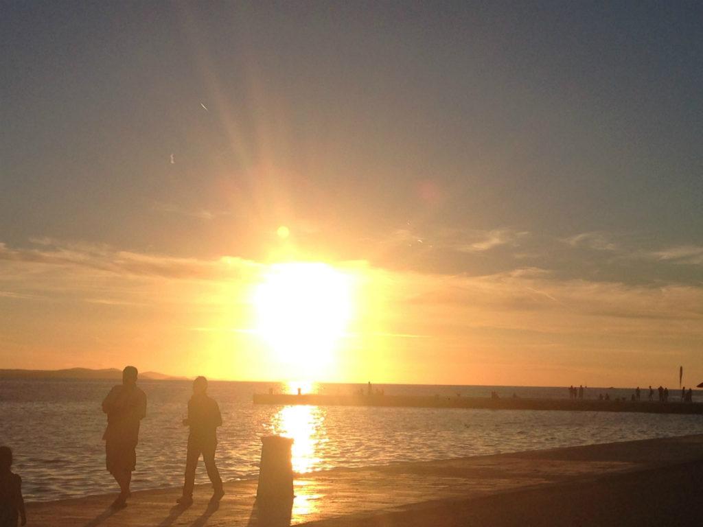 クロアチア ザダルの夕日