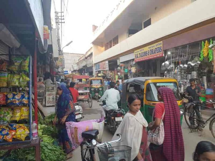 インド グルガオンのマーケット