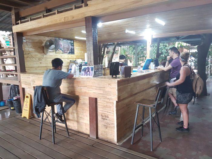エレファントネイチャーパークのカフェ