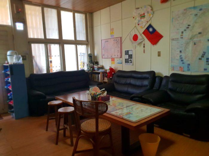 台南オススメの日本人宿 はむ家のくつろぎスペース