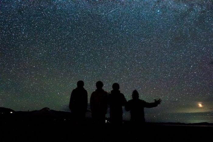キルギスタン ソンクル湖の星だらけの夜空
