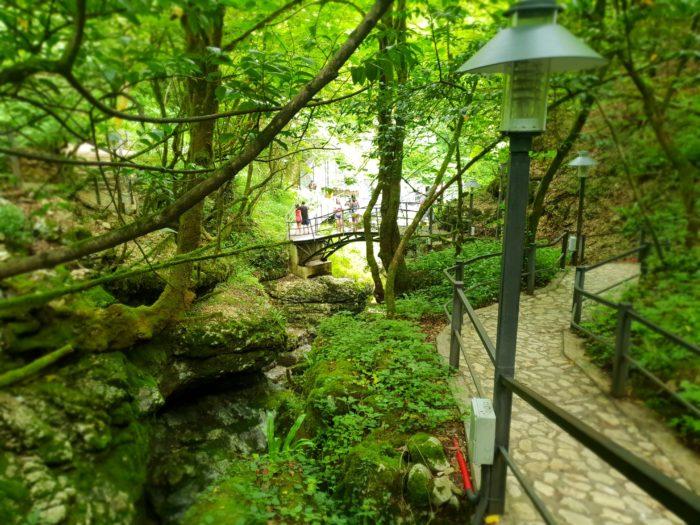 クタイシ Martvili Canyon の美しい自然