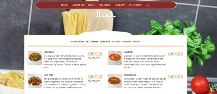 Cafe Faiza のwebサイト