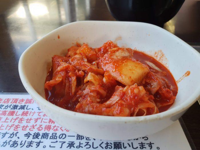 焼肉 味楽 キムチ