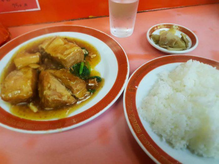 千成亭の豚角煮定食