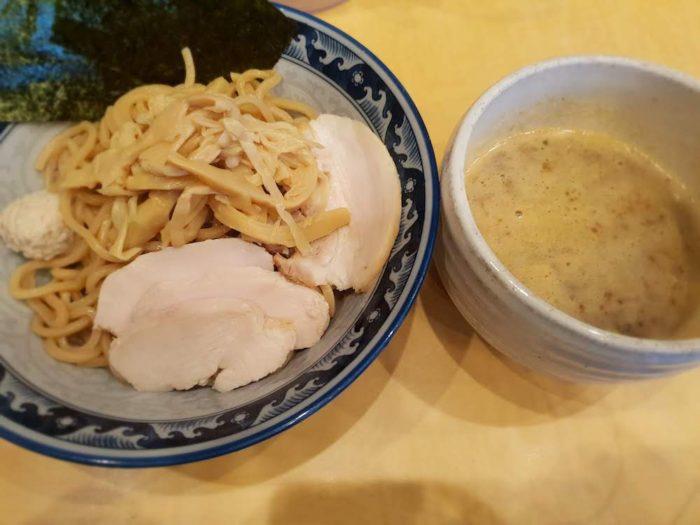 松戸 らーめん銀杏 濃厚つけ麺(全部のせ)