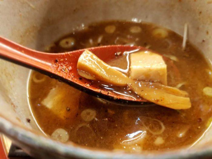 柏 麺屋 音 濃厚つけ麺 具材