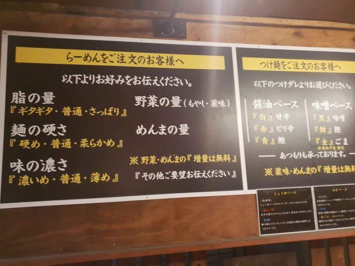 こってりらーめん誉 新松戸店のオーダー方法