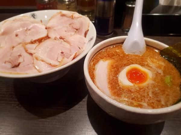 こってりらーめん誉 新松戸店 チャーシューつけ麺 味噌スープ