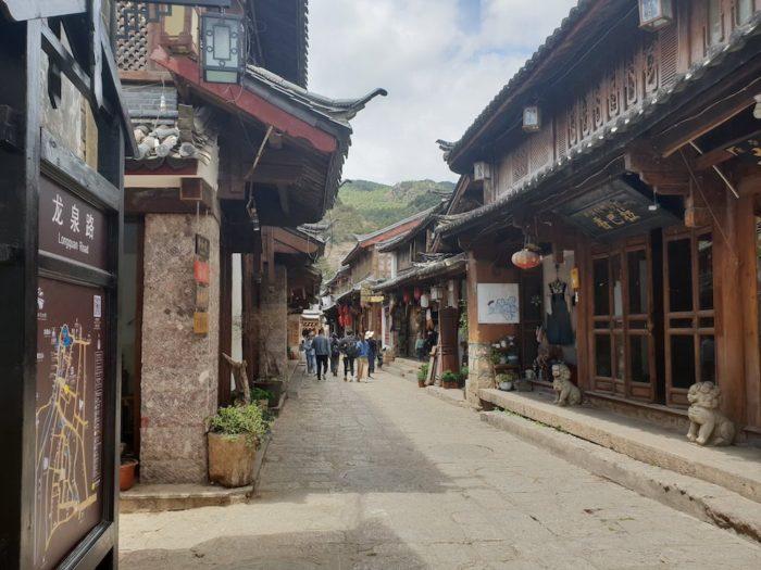 雲南省 束河古墳の通路