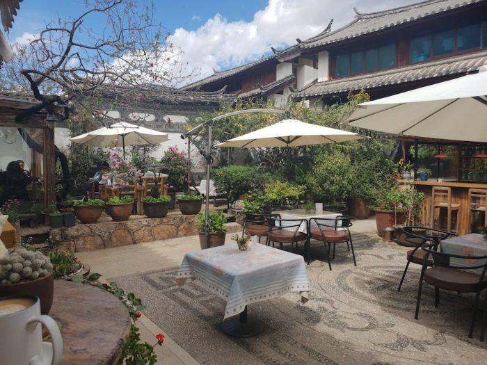 白沙古墳のカフェ
