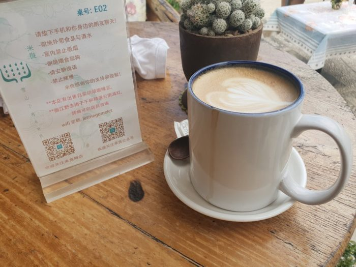 白沙古墳のカフェで一休み