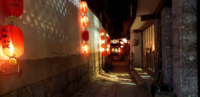 束河古墳のライトアップ