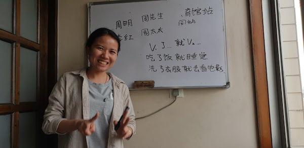 昆明 中国語学校 Keatsの先生