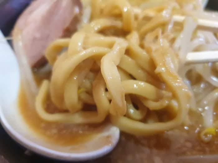 綾瀬大勝軒 特製ラーメン 麺が太い