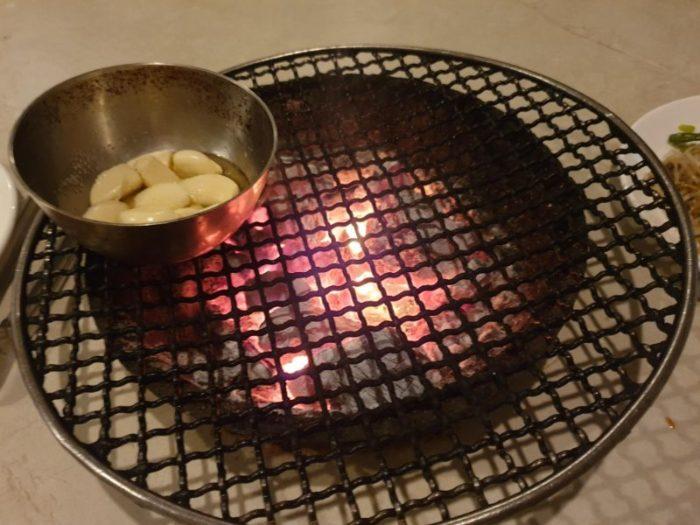 セブ 焼き肉 Iki drum yakiniku restaurantの七輪