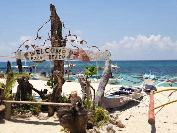 ボラカイ島 Pukaビーチ