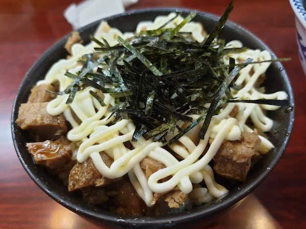 麺や ふくろう(チャーシューマヨ丼)