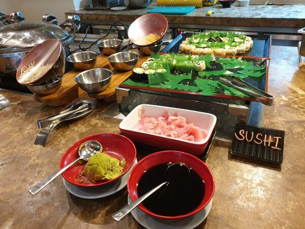 City Garden Grand Hotel 朝食ブッフェ 和食