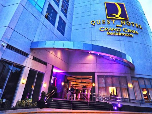 セブのビジネスホテル Quest Hotel and Conference Centerの入り口