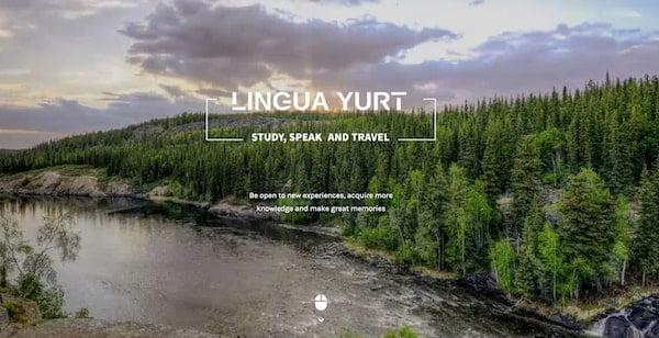 キルギス ロシア語学校 LINGUA YURTのwebサイト
