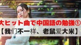我们不一样(大壮)、老鼠爱大米(香香)日本語訳