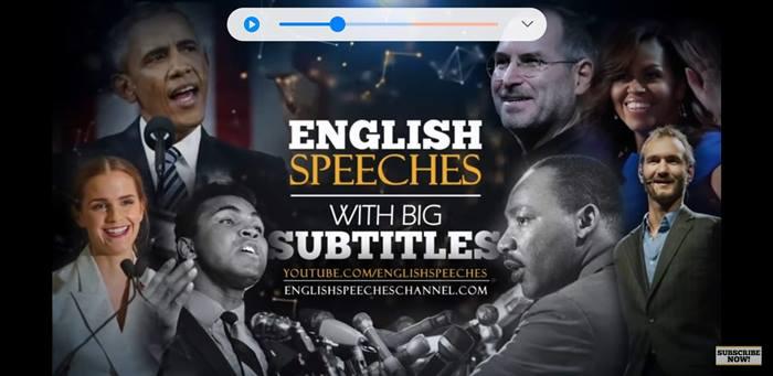 オススメ英語学習動画  English Speeches(中級者向け)