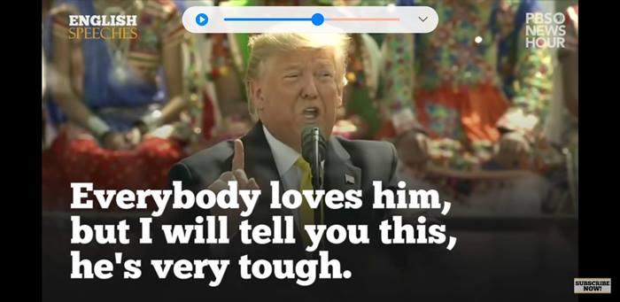 トランプ大統領の演説で英語学習